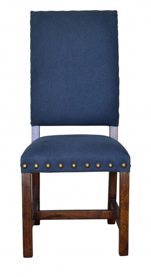Indigo, Blue, Linen Dining Chair