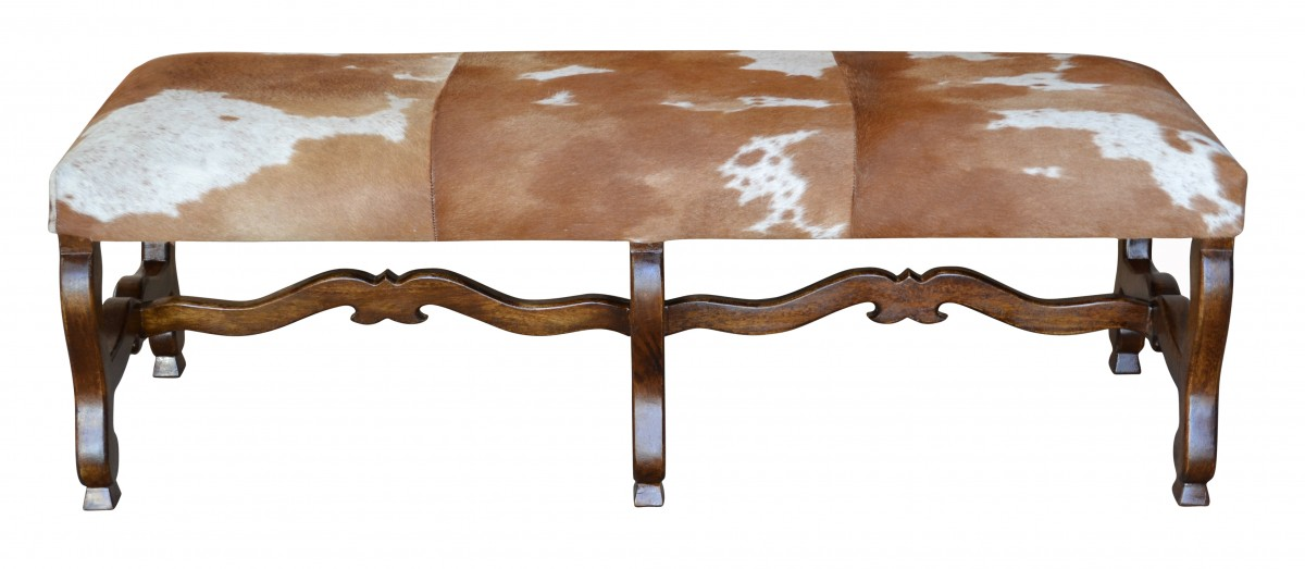 Cowhide Ottoman, Cowhide Bench