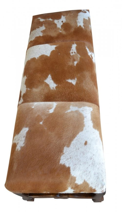 Cowhide Side Bench