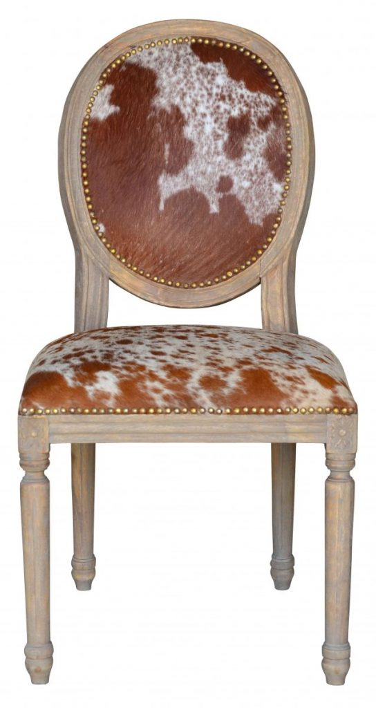 French, Oval, Dining, Chair, Hide Dining, Chair