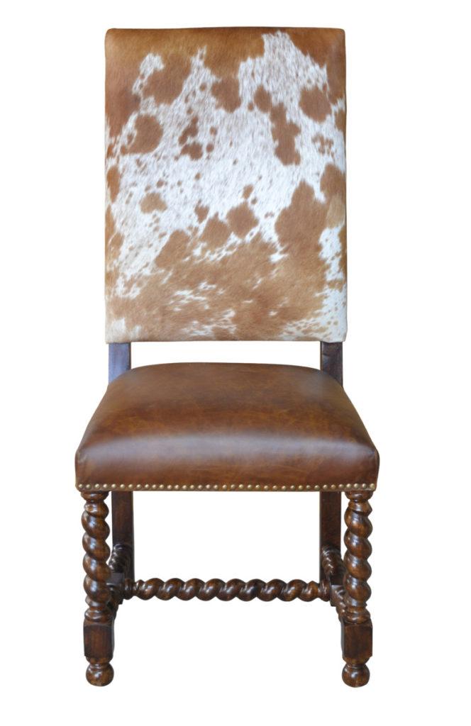Barley Twist Cowhide Chair