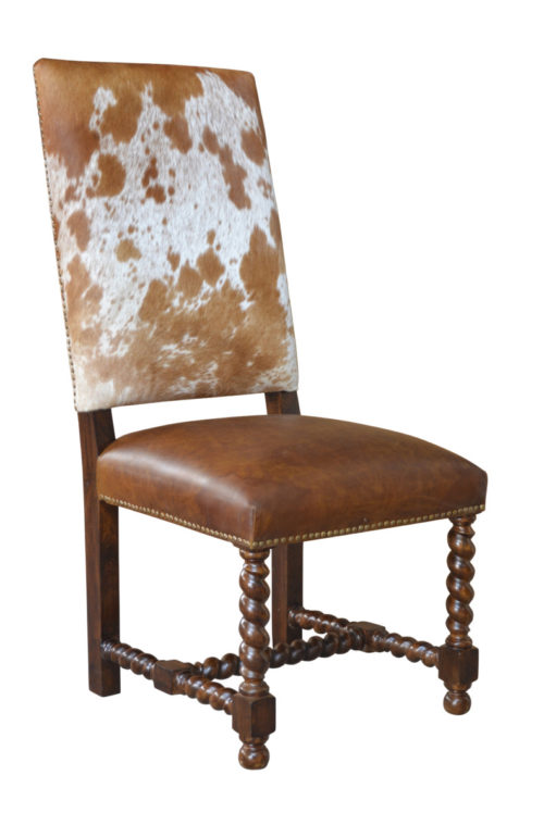 Barley Twist Cowhide Chair