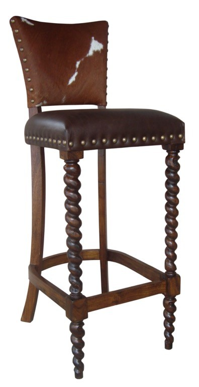 Barley Twist Bar Stool