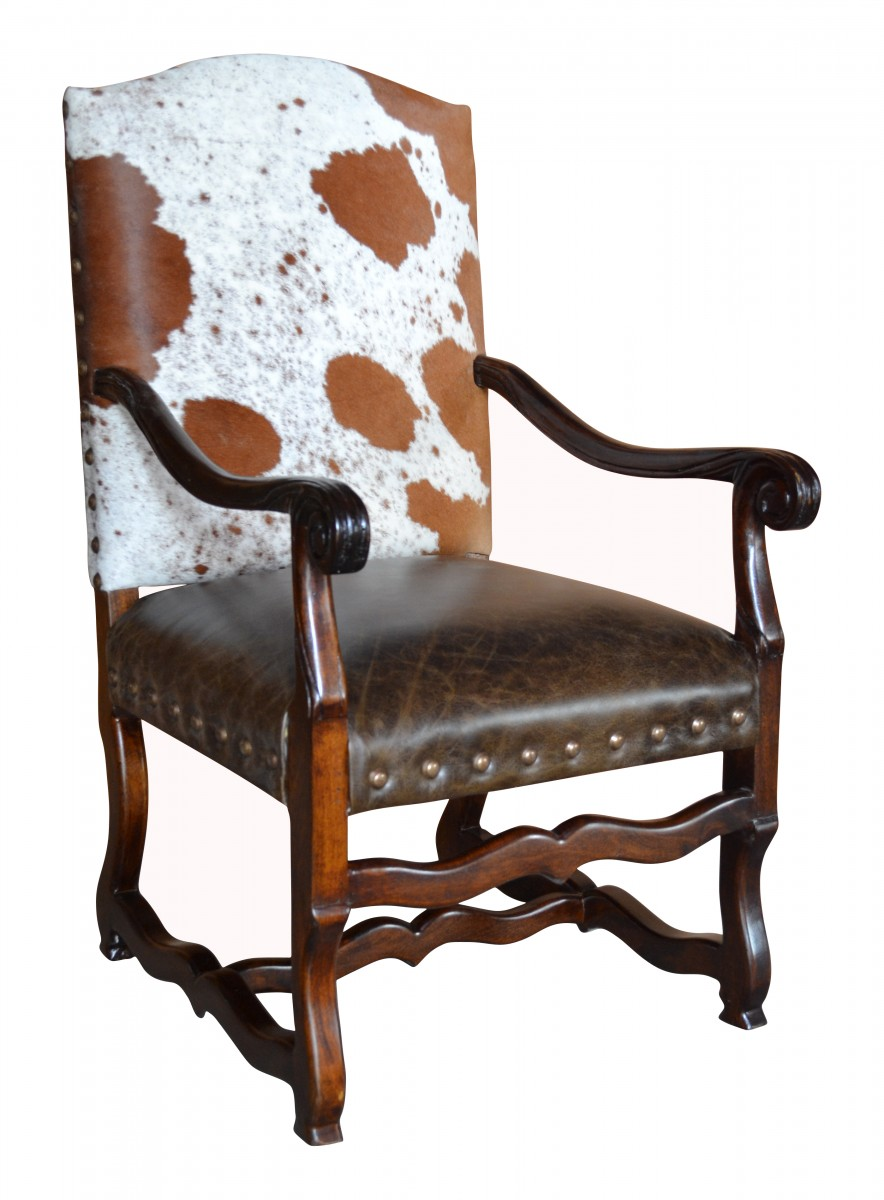 Classic Cowhide Arm Chair John Proffitt
