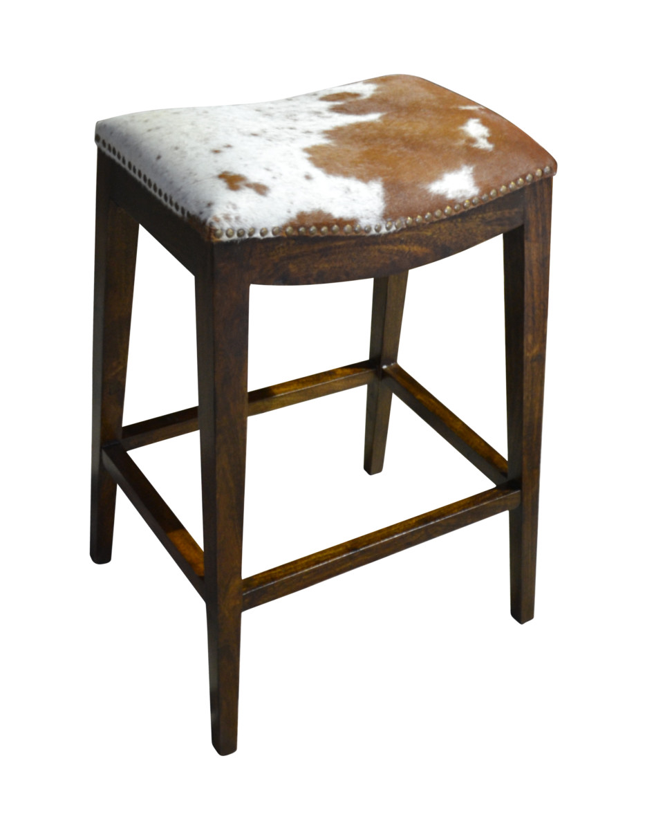 Modern Cowhide Bar Stool John Proffitt