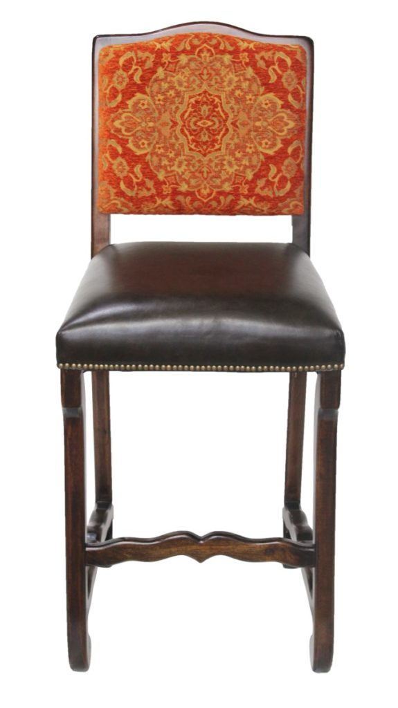 Classic Bar Stool in Chenille