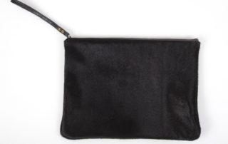 Black Cowhide Clutch Side
