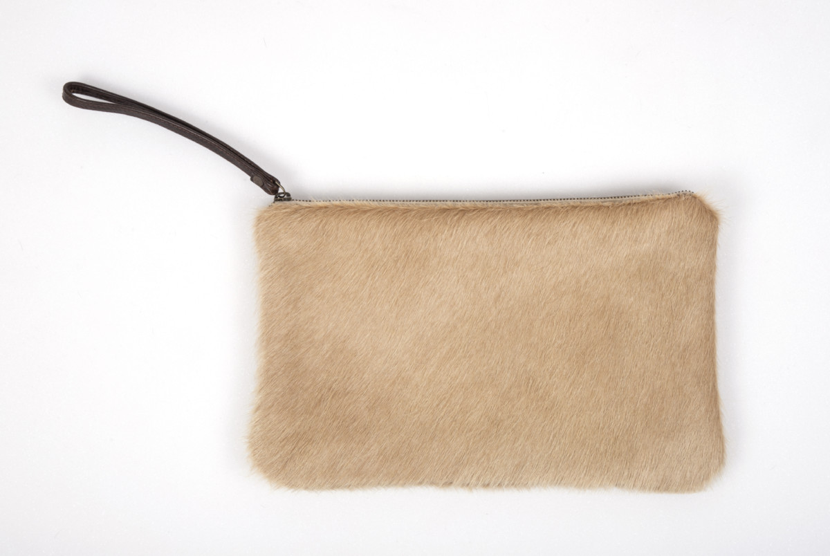 Palomino Cowhide Clutch