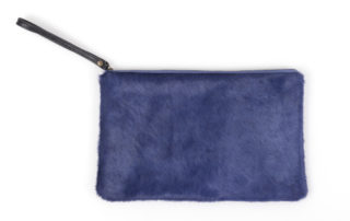 Royal Blue Cowhide Clutch