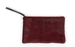 Red Cowhide Clutch