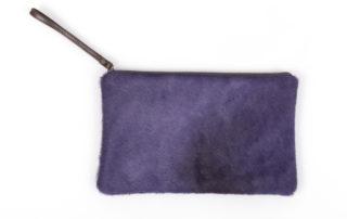 Purple Cowhide Clutch